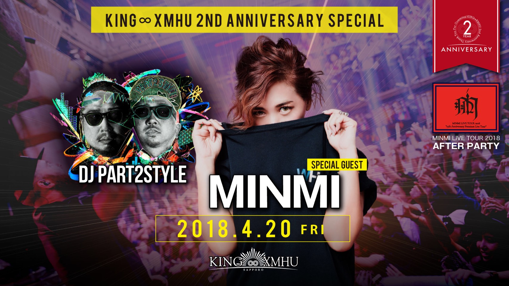 MINMI KING∞XMHU 2nd ANNIVERSARY PARTY × MINMI LIVE TOUR2018